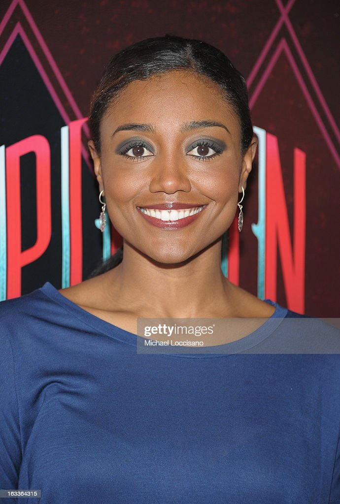 Actress <a gi-track='captionPersonalityLinkClicked' href=/galleries/search?phrase=Patina+Miller&family=editorial&specificpeople=5748190 ng-click='$event.stopPropagation()'>Patina Miller</a> attends the 'Pippin' Broadway Open Press Rehearsal at Manhattan Movement & Arts Center on March 8, 2013 in New York City.