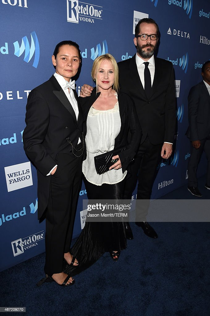 actress Patricia Arquette and artist Eric White attend the 26th Annual GLAAD Media Awards at The Beverly Hilton Hotel on March 21, 2015 in Beverly Hills, California.