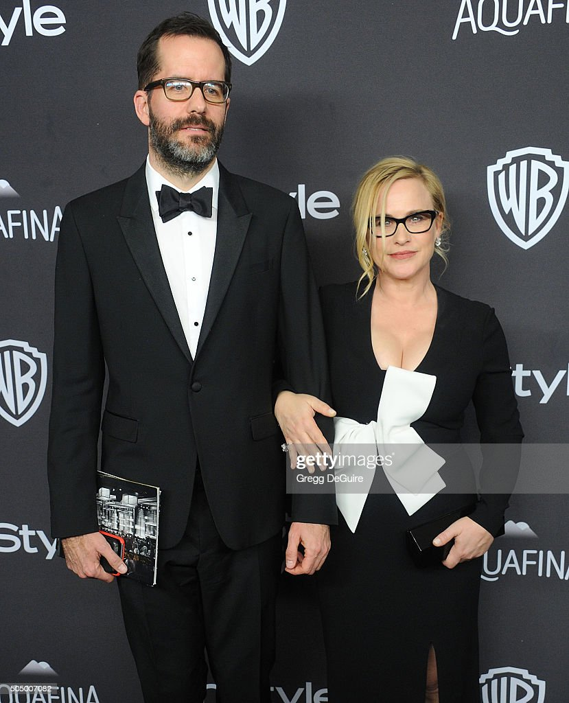 Actress Patricia Arquette and Eric White arrive at the 2016 InStyle And Warner Bros. 73rd Annual Golden Globe Awards Post-Party at The Beverly Hilton Hotel on January 10, 2016 in Beverly Hills, California.