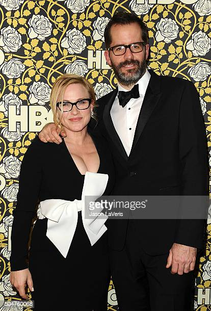 Actress Patricia Arquette and Eric White attend HBO's post 2016 Golden Globe Awards party at Circa 55 Restaurant on January 10 2016 in Los Angeles...