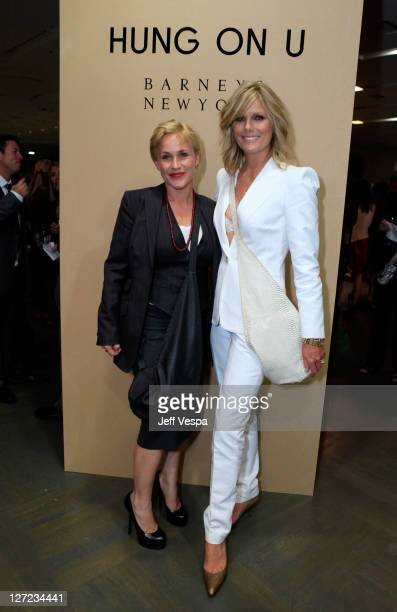 Actress Patricia Arquette and Patti Hansen attend the Barneys New York fete launch of 'Hung On U' held at Barneys New York Beverly Hills on September...