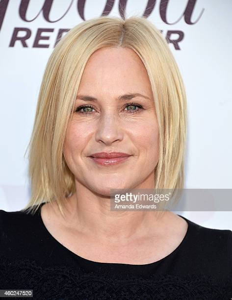Actress Patricia Arquette arrives at The Hollywood Reporter's Women In Entertainment Breakfast at Milk Studios on December 10 2014 in Los Angeles...