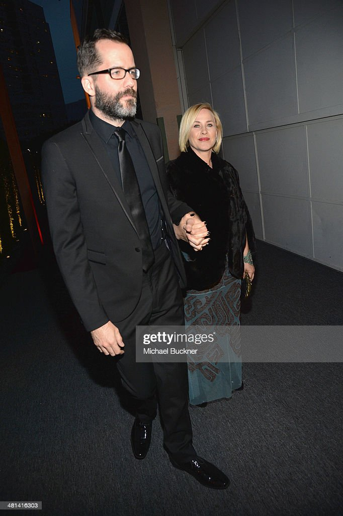 Actress <a gi-track='captionPersonalityLinkClicked' href=/galleries/search?phrase=Patricia+Arquette&family=editorial&specificpeople=206197 ng-click='$event.stopPropagation()'>Patricia Arquette</a> (R) attends MOCA's 35th Anniversary Gala presented by Louis Vuitton at The Geffen Contemporary at MOCA on March 29, 2014 in Los Angeles, California.