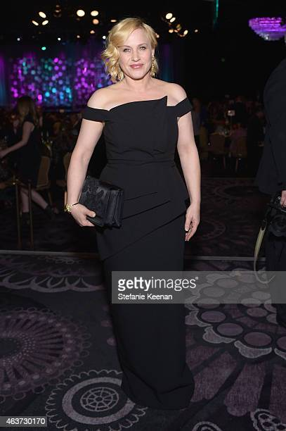 Actress Patricia Arquette attends the 17th Costume Designers Guild Awards with presenting sponsor Lacoste at The Beverly Hilton Hotel on February 17...