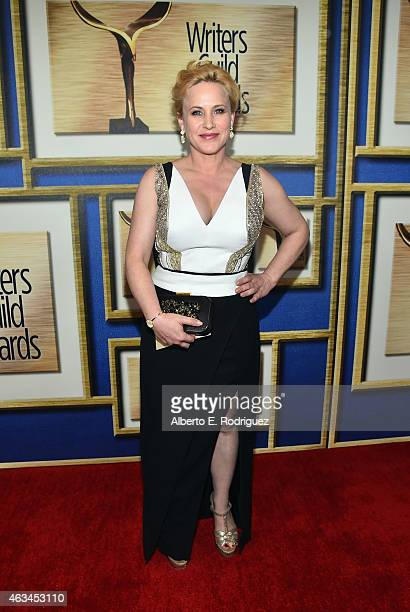 Actress Patricia Arquette attends the 2015 Writers Guild Awards LA Ceremony at the Hyatt Regency Century Plaza on February 14 2015 in Century City...