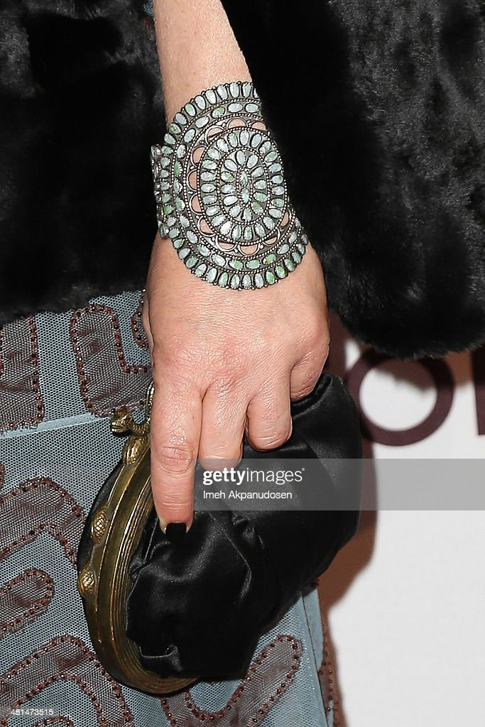 Actress Patricia Arquette (purse and bracelet detail) attends The Museum Of Contemporary Art, Los Angeles, Celebrates 35th Anniversary Gala Presented By Louis Vuitton at The Geffen Contemporary at MOCA on March 29, 2014 in Los Angeles, California.