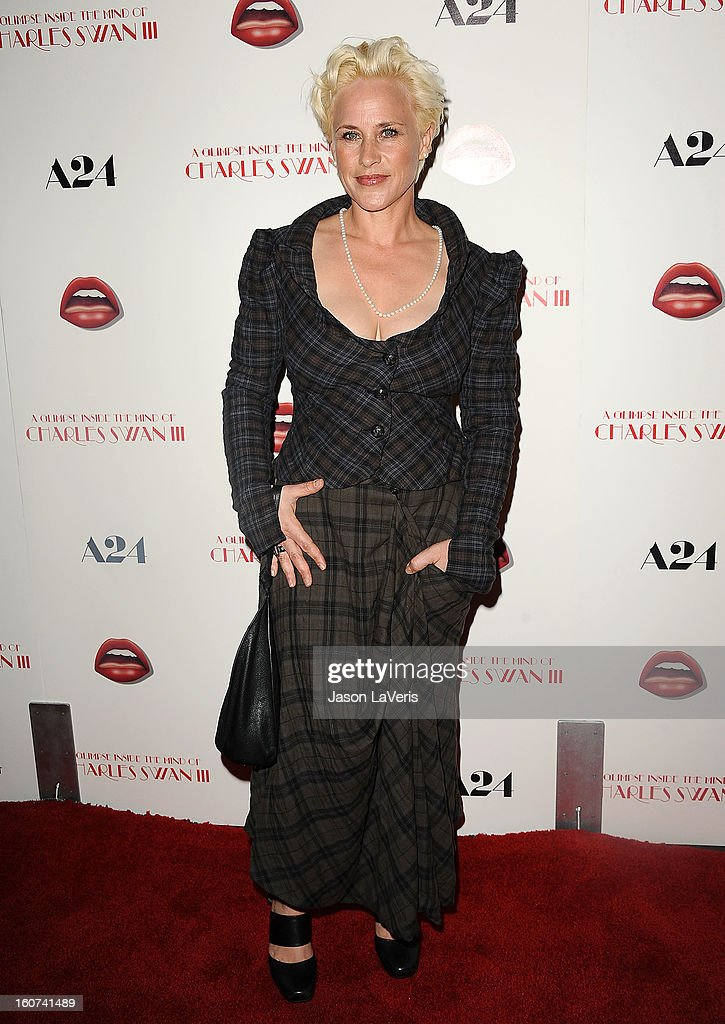 Actress <a gi-track='captionPersonalityLinkClicked' href=/galleries/search?phrase=Patricia+Arquette&family=editorial&specificpeople=206197 ng-click='$event.stopPropagation()'>Patricia Arquette</a> attends the premiere of 'A Glimpse Inside The Mind Of Charlie Swan III' at ArcLight Hollywood on February 4, 2013 in Hollywood, California.