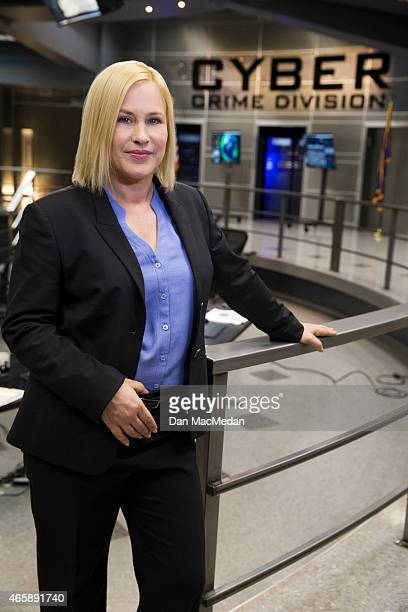 Actress Patricia Arquette is photographed for USA Today on January 30 2015 on the set of 'CSI Cyber' at CBS Radford Studios in Studio City California