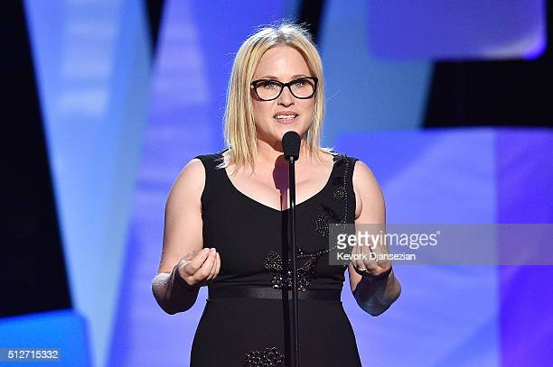 Actress Patricia Arquette speaks onstage during the 2016 Film Independent Spirit Awards on February 27 2016 in Santa Monica California