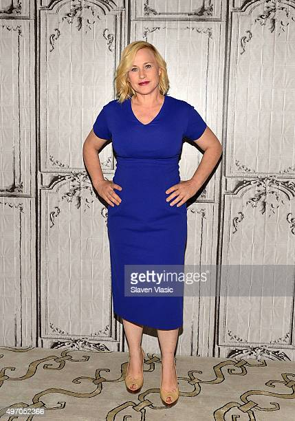 Actress Patricia Arquette visits AOL BUILD to discuss her starring role as Avery Ryan in 'CSI Cyber' at AOL Studios In New York on November 13 2015...