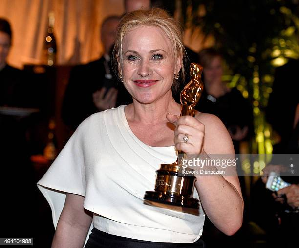 Actress Patricia Arquette winner of the award for Best Actress in a Supporting Role for 'Boyhood' attends the 87th Annual Academy Awards Governors...
