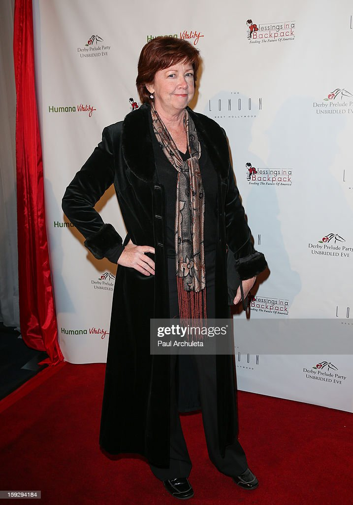 Actress Patricia Bethune attends the Los Angeles Unbridled Derby prelude party at The London Hotel on January 10, 2013 in West Hollywood, California.