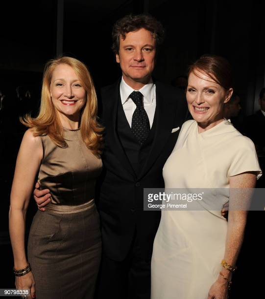 Actress Patricia Clarkson Actor Colin Firth and Actress Julianne Moore attend the 'A Single Man' After Party held at Jamie Kennedy Center at the...