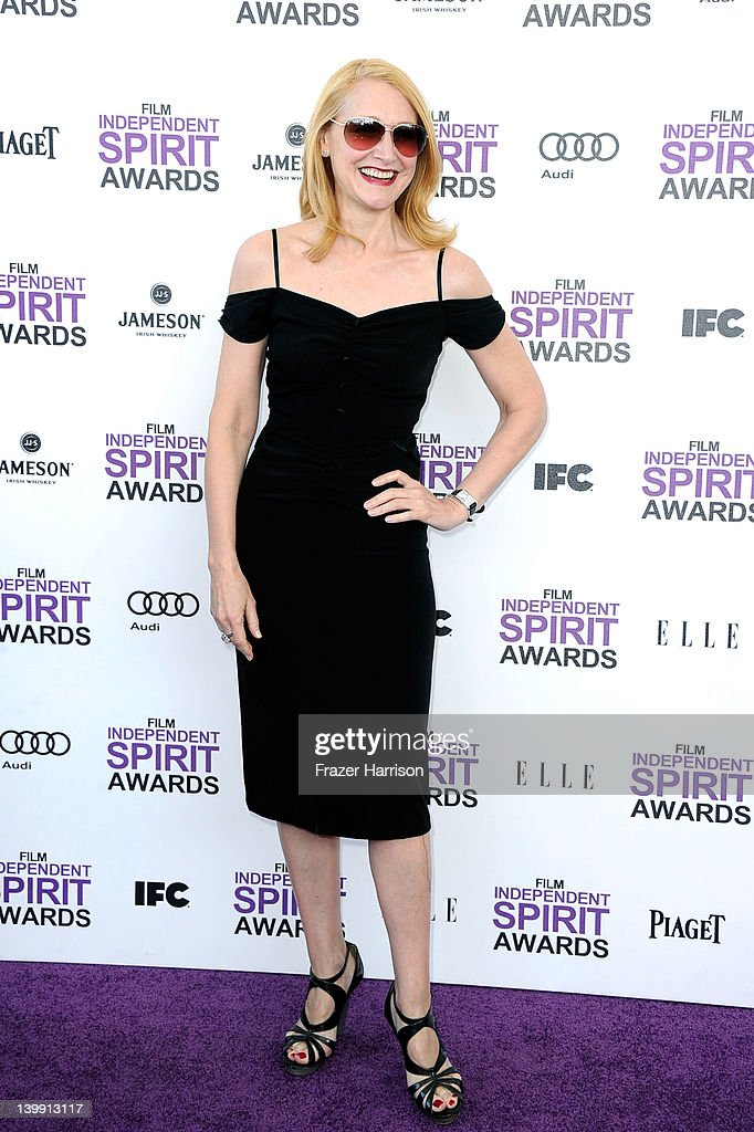 Actress Patricia Clarkson arrives at the 2012 Film Independent Spirit Awards on February 25, 2012 in Santa Monica, California.