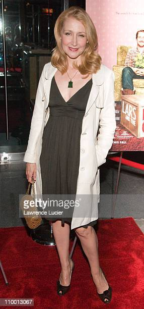 Actress Patricia Clarkson arrives at the New York screening of Lars And The Real Girl October 3 at the Paris Theater in New York City