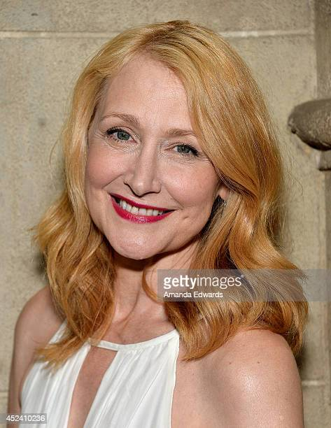 Actress Patricia Clarkson arrives at the Water's End Productions and Gran Via Productions Film 'Last Weekend' cast dinner at Chateau Marmont on July...