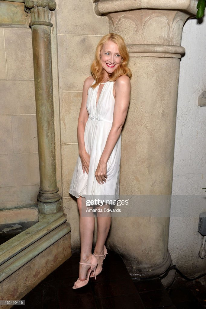 Actress <a gi-track='captionPersonalityLinkClicked' href=/galleries/search?phrase=Patricia+Clarkson&family=editorial&specificpeople=202994 ng-click='$event.stopPropagation()'>Patricia Clarkson</a> arrives at the Water's End Productions and Gran Via Productions Film 'Last Weekend' cast dinner at Chateau Marmont on July 19, 2014 in Los Angeles, California.