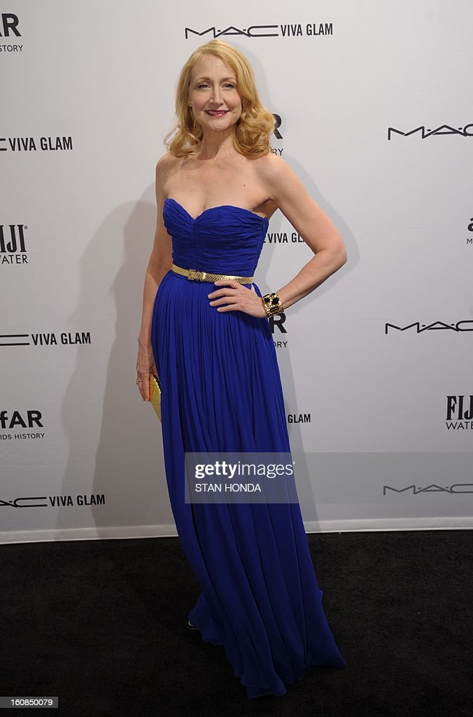 Actress Patricia Clarkson at the amfAR (The Foundation for AIDS Research) gala that kicks off the Mercedes-Benz Fashion Week February 6, 2013 in New York. AFP PHOTO/Stan HONDA