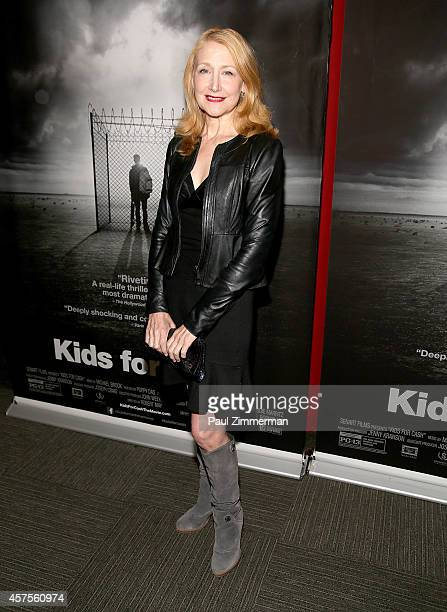 Actress Patricia Clarkson attends a special New York screening of SenArt Films 'Kids For Ca$h' at Scholastic Auditorium on October 20 2014 in New...