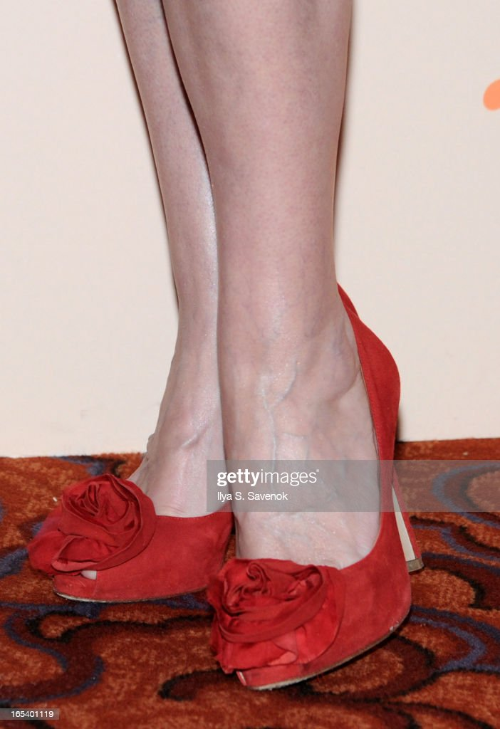Actress Patricia Clarkson (shoe detail) attends The 2013 Hale House Spring Gala at Mandarin Oriental Hotel on April 3, 2013 in New York City.