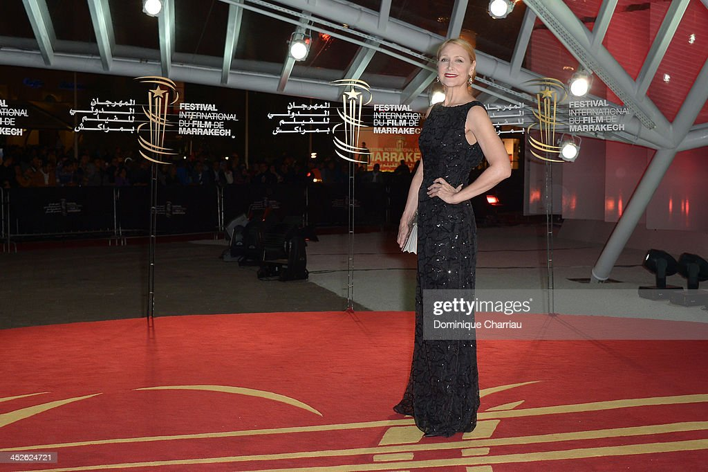 Actress <a gi-track='captionPersonalityLinkClicked' href=/galleries/search?phrase=Patricia+Clarkson&family=editorial&specificpeople=202994 ng-click='$event.stopPropagation()'>Patricia Clarkson</a> attends the 'A Thousand Times Good Night' premiere during the 13th Marrakech International Film Festival on November 30, 2013 in Marrakech, Morocco.