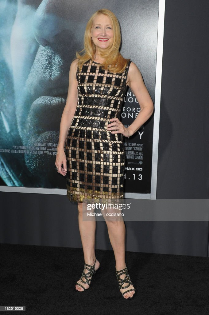 Actress <a gi-track='captionPersonalityLinkClicked' href=/galleries/search?phrase=Patricia+Clarkson&family=editorial&specificpeople=202994 ng-click='$event.stopPropagation()'>Patricia Clarkson</a> attends the 'Gravity' premiere at AMC Lincoln Square Theater on October 1, 2013 in New York City.
