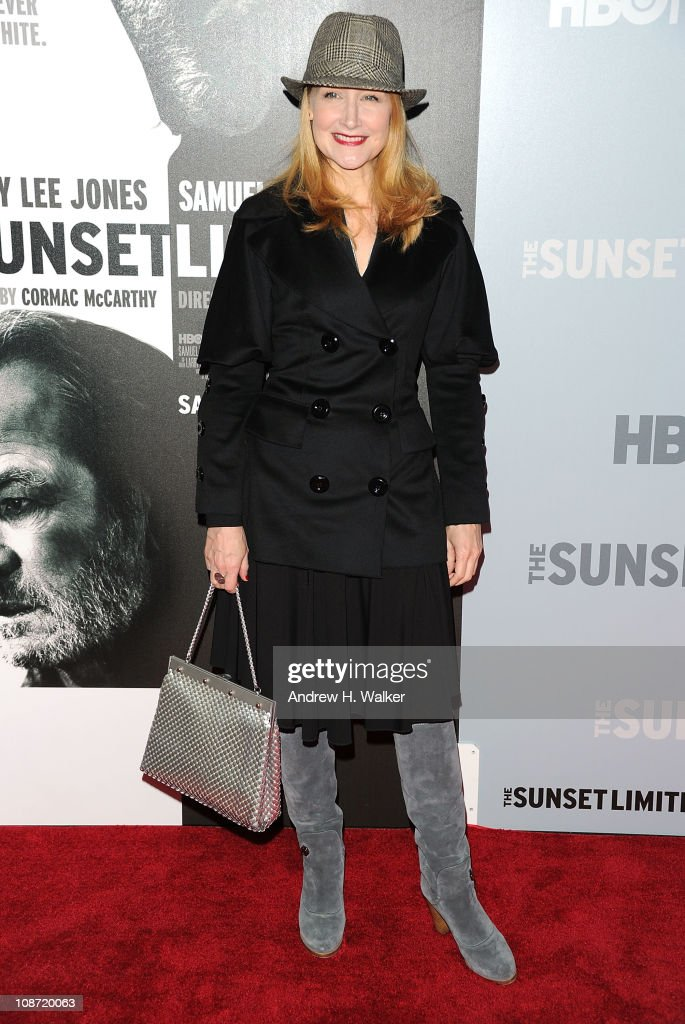 Actress Patricia Clarkson attends the HBO Films & The Cinema Society screening of 'Sunset Limited' at the Time Warner Screening Room on February 1, 2011 in New York City.