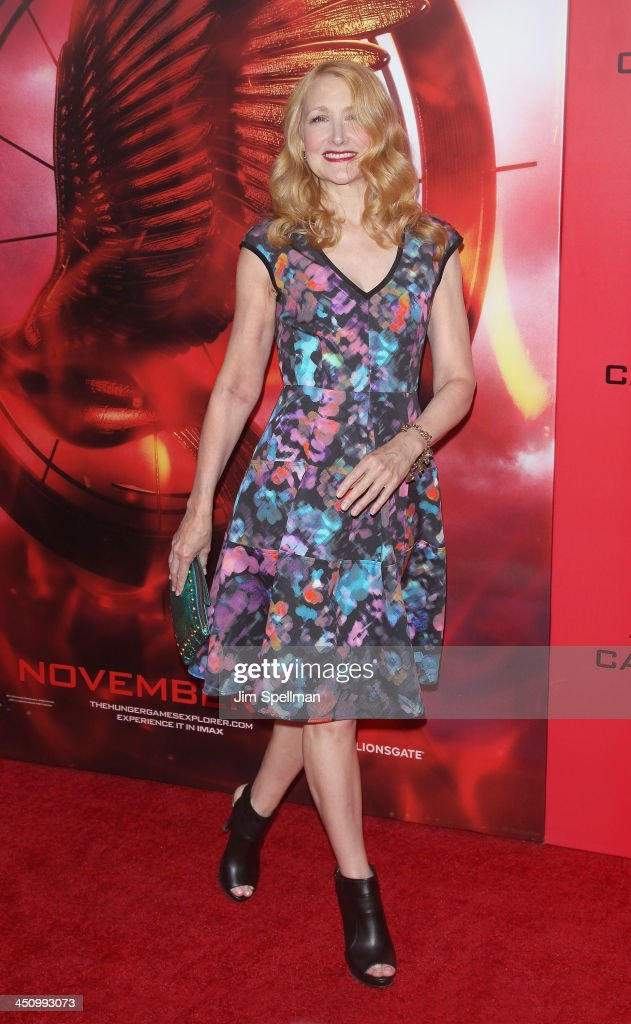 Actress Patricia Clarkson attends the 'Hunger Games Catching Fire' New York Premiere at AMC Lincoln Square Theater on November 20 2013 in New York...