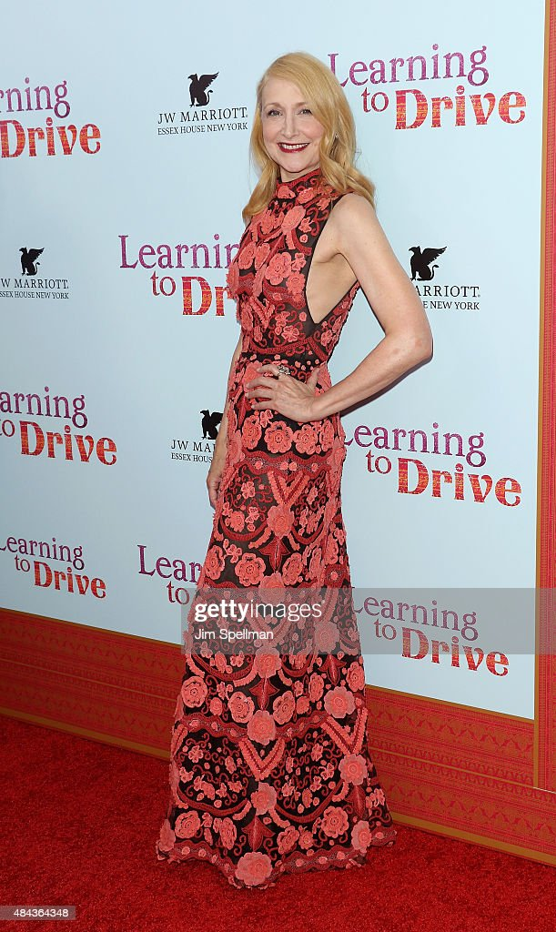 Actress <a gi-track='captionPersonalityLinkClicked' href=/galleries/search?phrase=Patricia+Clarkson&family=editorial&specificpeople=202994 ng-click='$event.stopPropagation()'>Patricia Clarkson</a> attends the 'Learning To Drive' New York premiere at The Paris Theatre on August 17, 2015 in New York City.