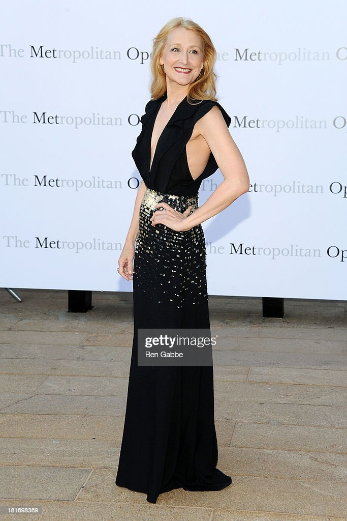 Actress Patricia Clarkson attends the Metropolitan Opera season opening production of 'Eugene Onegin' at The Metropolitan Opera House on September 23, 2013 in New York City.