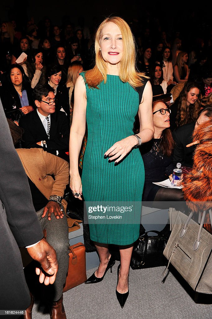 Actress Patricia Clarkson attends the Nanette Lepore Fall 2013 fashion show during Mercedes-Benz Fashion Week at The Stage at Lincoln Center on February 13, 2013 in New York City.