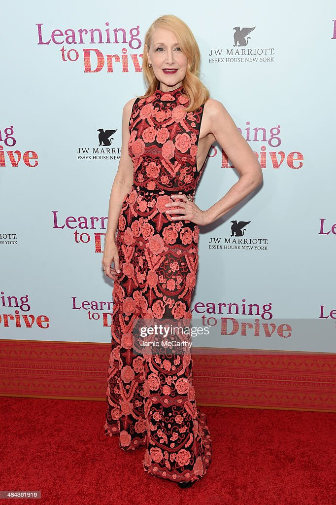 Actress <a gi-track='captionPersonalityLinkClicked' href=/galleries/search?phrase=Patricia+Clarkson&family=editorial&specificpeople=202994 ng-click='$event.stopPropagation()'>Patricia Clarkson</a> attends the New York premiere of 'Learning To Drive' at The Paris Theatre on August 17, 2015 in New York City.