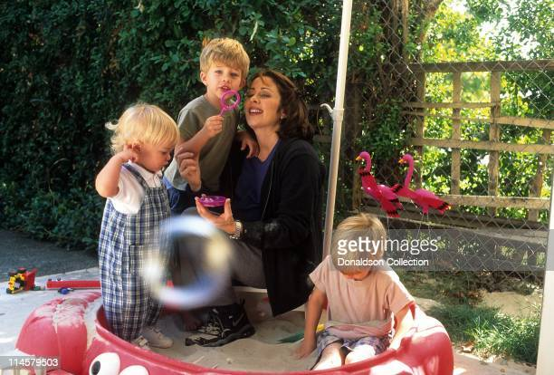 Actress Patricia Heaton and her kids pose for a portrait in circa 1990 in Los Angeles California