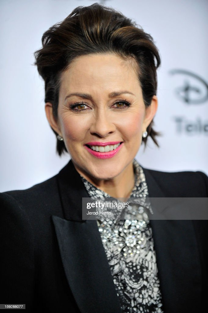 Actress <a gi-track='captionPersonalityLinkClicked' href=/galleries/search?phrase=Patricia+Heaton&family=editorial&specificpeople=173459 ng-click='$event.stopPropagation()'>Patricia Heaton</a> arrives at Disney ABC Television's red carpet gala at the Langham Huntington Hotel and Spa on January 10, 2013 in Pasadena, California.