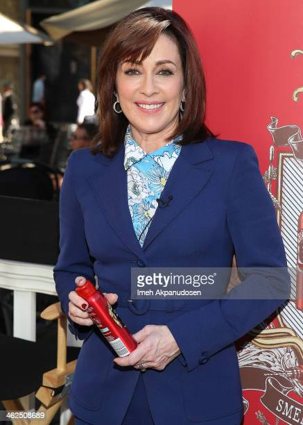 Actress Patricia Heaton attends the Old Spice 'Scent Responsibly' campaign launch at The Grove on January 13 2014 in Los Angeles California