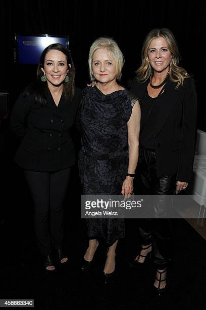 Actress Patricia Heaton event chair Loraine Boyle and actress Rita Wilson attend the International Myeloma Foundation 8th Annual Comedy Celebration...