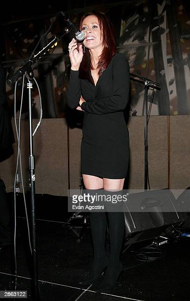 Actress Patricia Heaton introduces 'Hootie The Blowfish' at the afterparty for the special screening of TNT's 'The Goodbye Girl' at The Four Seasons...