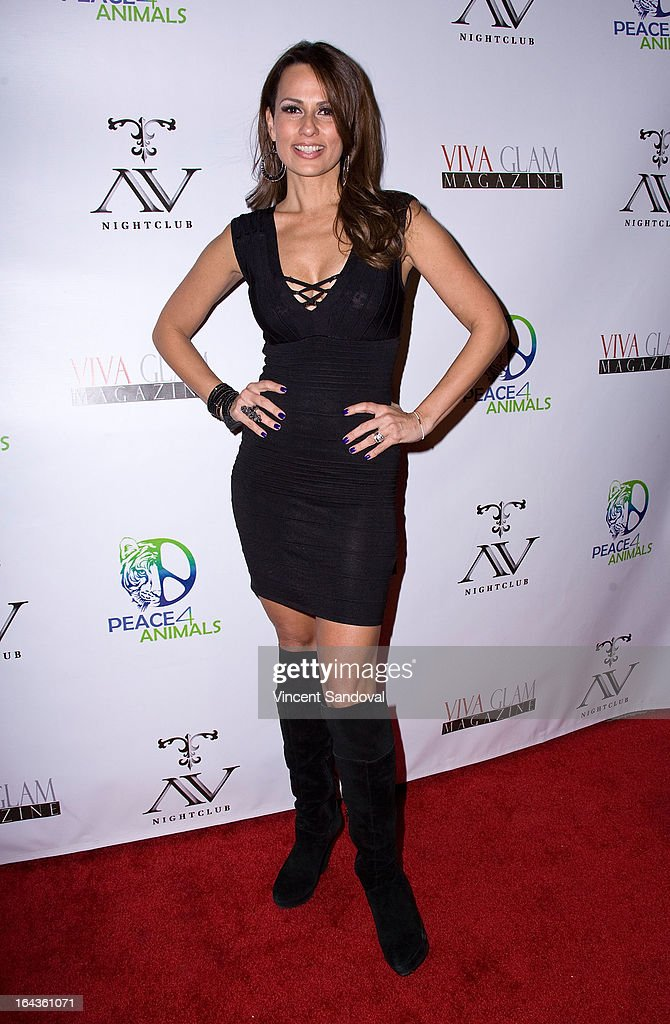Actress Patricia Kara attends the Viva Glam Magazine April launch party in support of Peace 4 Animals at AV on March 22, 2013 in Hollywood, California.