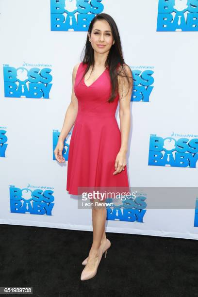 Actress Patricia Maya Schneider arrives at the Screening of DreamWorks Animations and 20th Century Fox's 'The Boss Baby' at DreamWorks Animation on...