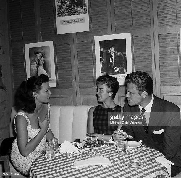 Actress Patricia Tiernan Actor John Ericson and his wife Milly Coury attend the Four Star Cocktail Party in Los Angeles California