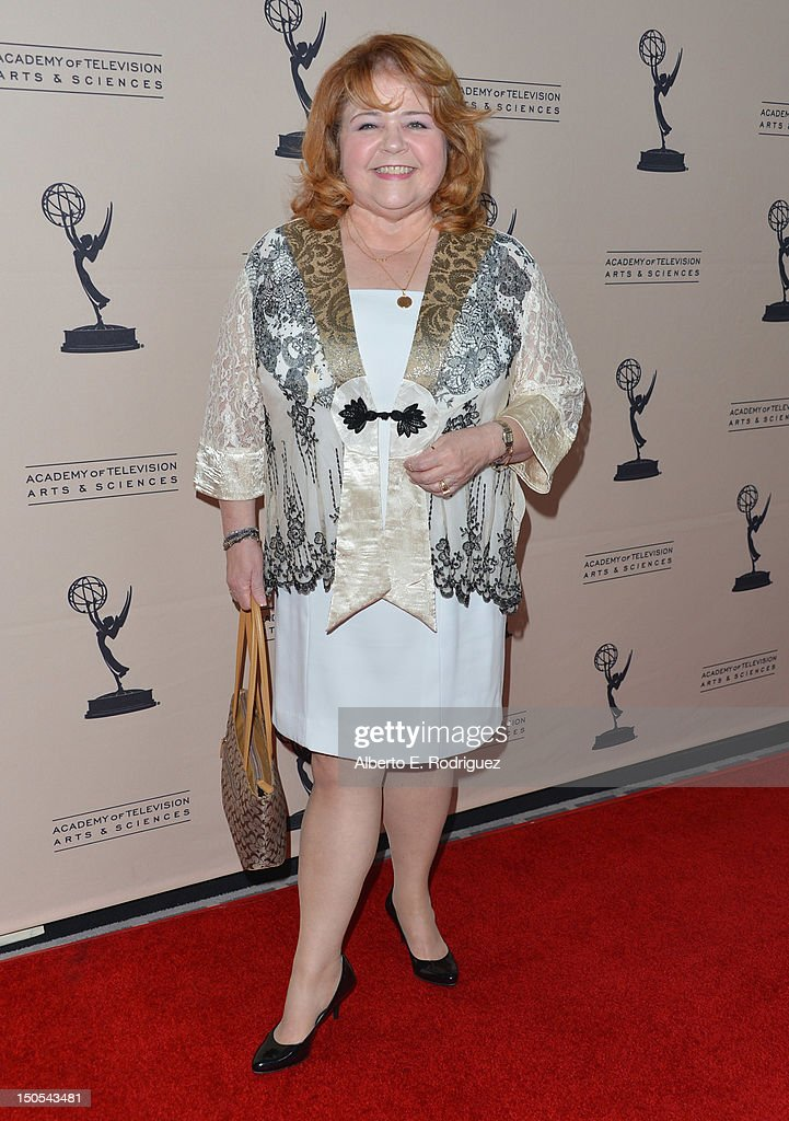 Actress Patrika Darbo arrives to the Academy of Television Arts & Sciences' Performers Peer Group Cocktail Reception at the Sheraton Hotel on August 20, 2012 in Universal City, California.