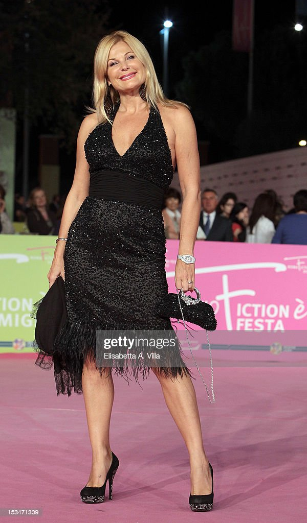 Actress Patrizia Pellegrino attends the 2012 RomaFictionFest Closing Cerimony at Auditorium Parco della Musica on October 5, 2012 in Rome, Italy.