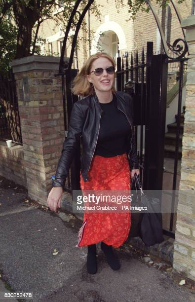 Actress Patsy Kensit wife of Liam Gallagher of the band Oasis arrives at the couples home in Primrose Hill London after visiting her newly born son...