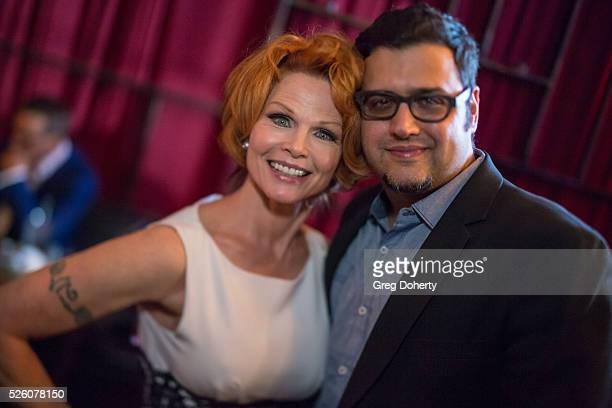 Actress Patsy Pease and Director Gregori J Martin attend the LANY Entertainment Presents 'The Bay' PreEmmy Party at the St Felix on April 28 2016 in...