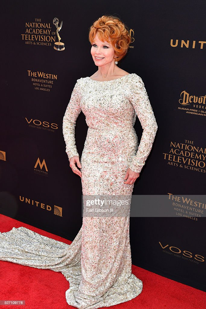 Actress Patsy Pease walks the red carpet at the 43rd Annual Daytime Emmy Awards at the Westin Bonaventure Hotel on May 1, 2016 in Los Angeles, California.