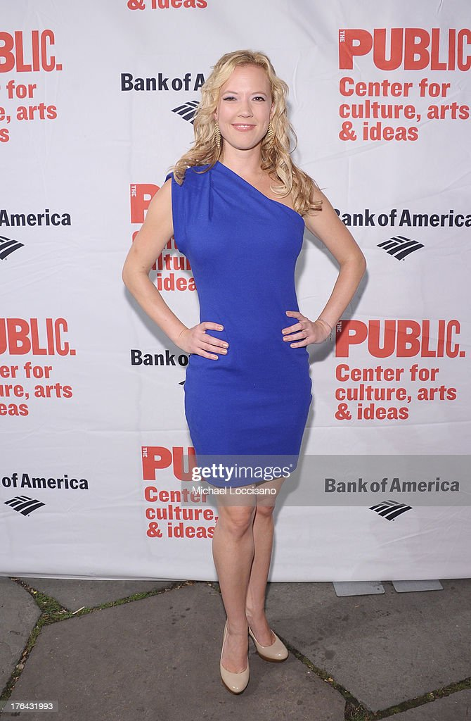 Actress Patti Murin attends The Public Theater's 'Love's Labour's Lost' Opening Nght at Delacorte Theater on August 12, 2013 in New York City.