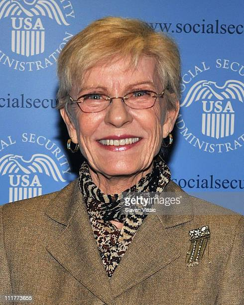 Actress Patty Duke attends the official launch of George Takei and Patty Duke's Social Security Administration Public Service announcements on April...