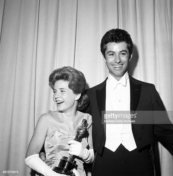 Actress Patty Duke wins the Academy Award for ' Miracle Worker' in Los Angeles California