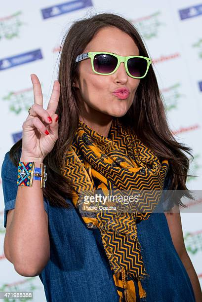 Actress Paula Echevarria attends the Slime Festival at the Barclaycard Center on May 2 2015 in Madrid Spain