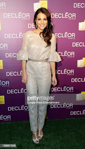 Actress Paula Echevarria is presented as the new image for Decleor by Shiseido on February 10 2012 in Madrid Spain